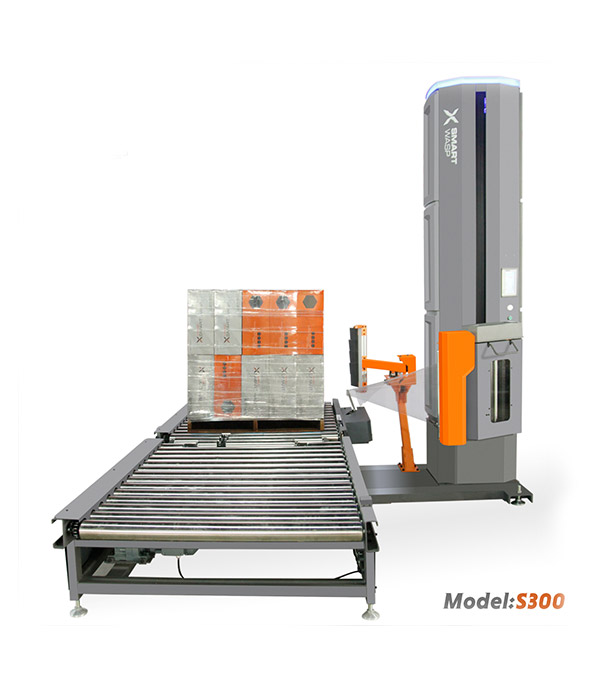 Let's look at a pallet wrapping machine!