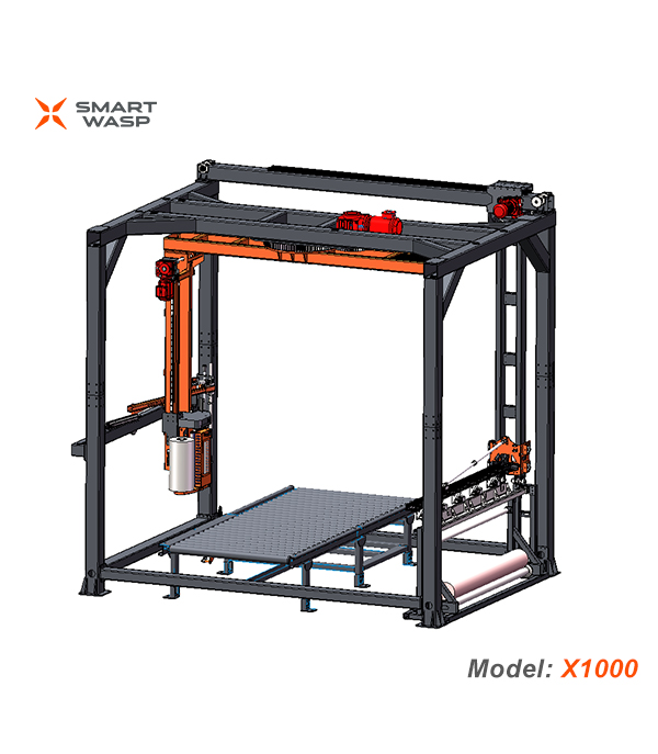 X1000 Cantilever Fully Automatic Pallet Wrapping Machine