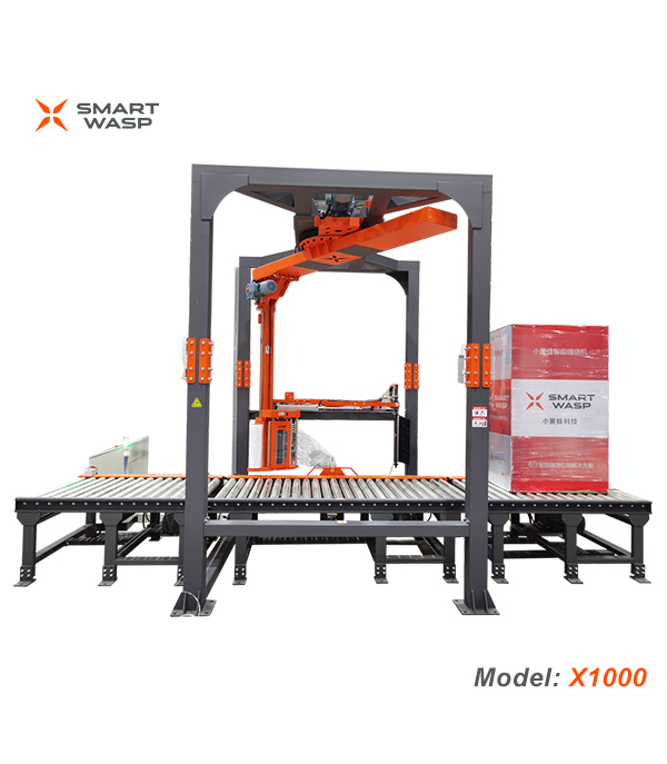 X1000 Rotary Arm Fully Automatic Pallet Wrapping Machine